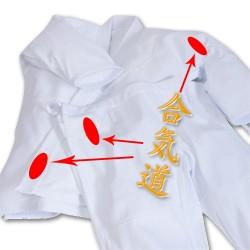 Iwata Gi Jacket and pants set embroidery