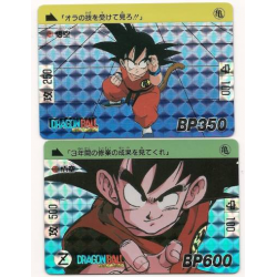 Dragon Ball Cardass shiny scratch 1995 edition nº 43 and 44