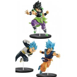 Dragon Ball Super Ultimate Soldiers (The Movie) Broly (Rage Mode) and Goku/Vegeta (God Mode) 3 set figures