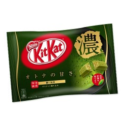 Deep Green Tea Kit Kats chocolates with double Uji matcha Japan limited edition