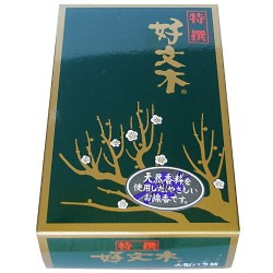 Japanese Incense Kobunboku Tokusen (Premium) Regular Box of 500 Sticks by Baieido