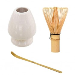 Japanese tea ceremony 3 utensils set: chaki, chashaku, chasen