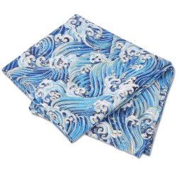Wave traditional Japanese Furoshiki wrapping cloth